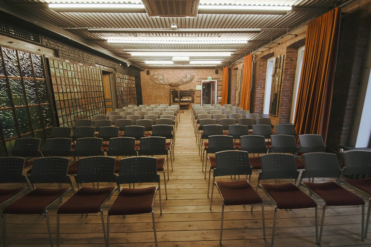 conference, lecture, hall
